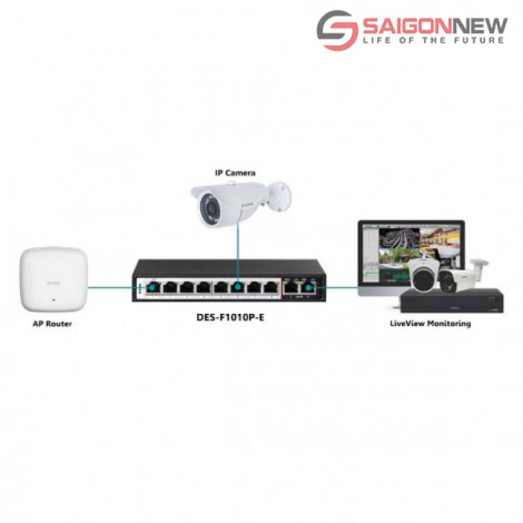 Switch POE D-LINK DES-F1010P